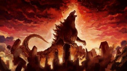 Godzilla, city, artwork, destruction | 1920x1080 Wallpaper ...