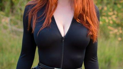 Nichameleon, women, model, redhead, cosplay, Black Widow ...